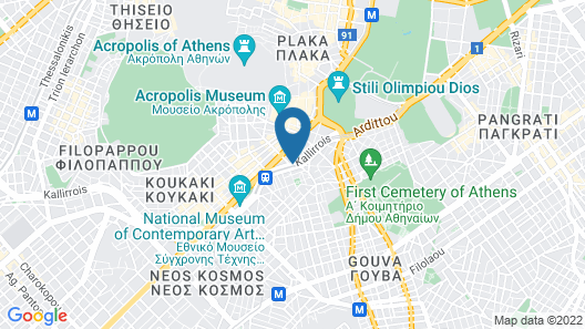 Athenian Callirhoe Hotel Map