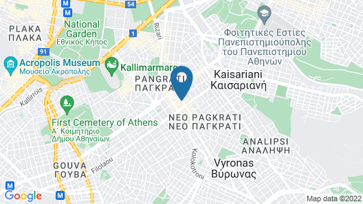 Omnia Pagrati Apartments Map