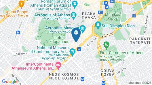 Urban Stripes Athens Map