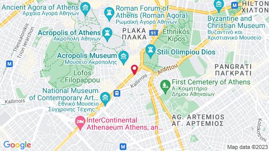 Niche Hotel Athens Map