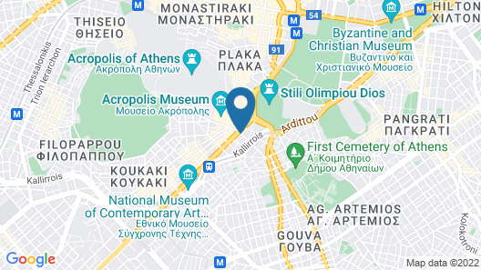 Niche Hotel Athens Map