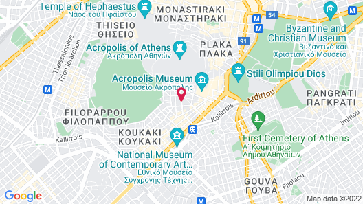 Divani Palace Acropolis Map