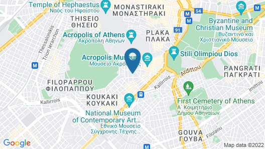 Divani Palace Acropolis Map