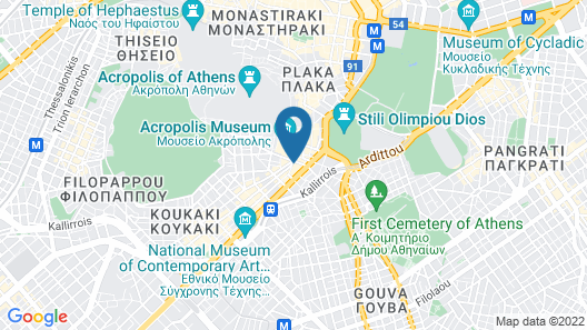 Acropolis View Deluxe Penthouse & Luxury Apartments Map