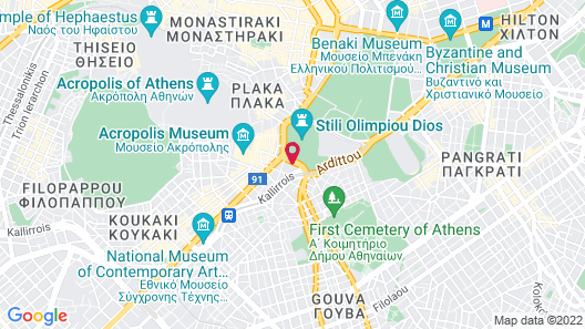 Royal Olympic Hotel Map