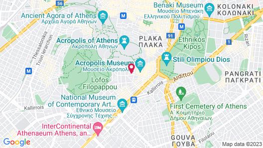 Herodion Athens Map