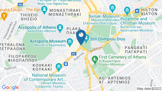 Athens Gate Hotel Map