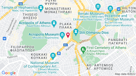 Athens Backpackers Map