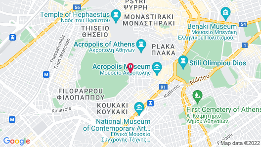 Acropolis View Hotel Map