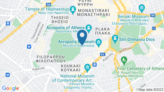 Acropolis View Hotel Map
