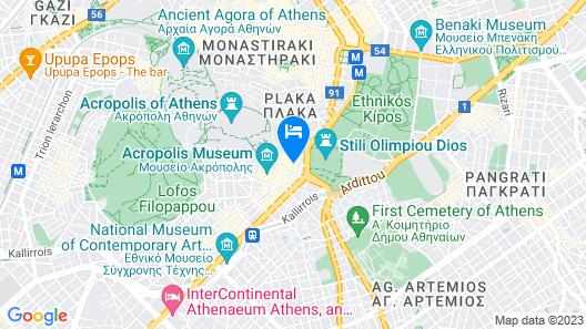 Airotel Parthenon Map