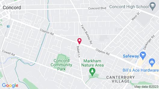 Motel 6 Concord, CA Map