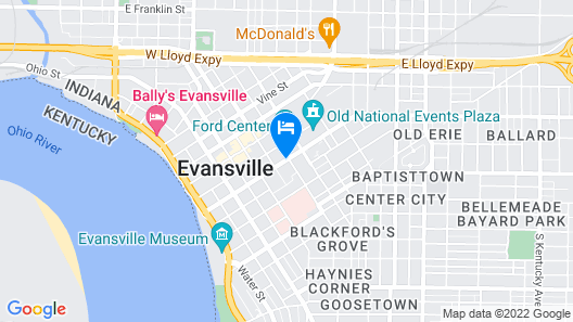 DoubleTree by Hilton Evansville Map