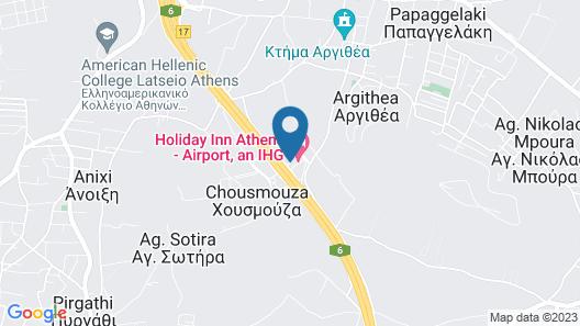 Holiday Inn Athens Attica Av. Airport West Map