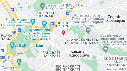 Divani Caravel Map