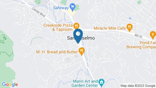 San Anselmo Inn Map