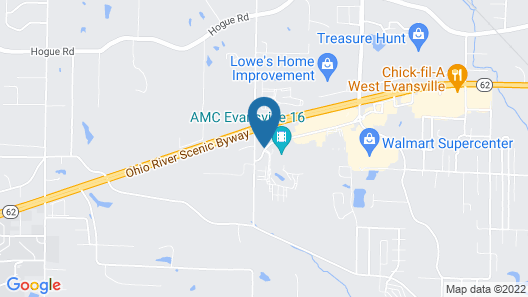 Holiday Inn Express Evansville West, an IHG Hotel Map