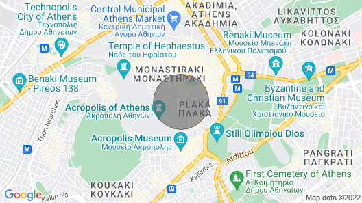 Athenian Niche in Plaka, Almost Next to Acropolis and Acropolis Museum Map