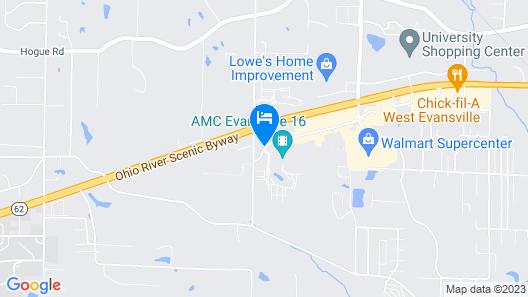 Holiday Inn Express Evansville West Map