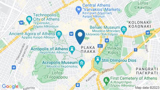 Metis Athens Suites Map