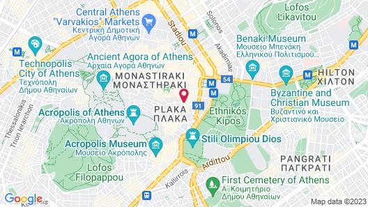Electra Palace Athens Map