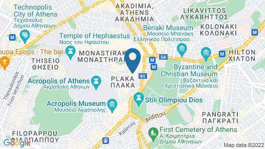 Electra Palace Athens Map