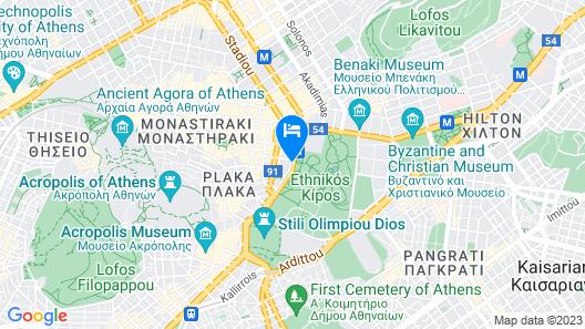 Amalia Hotel Athens Map