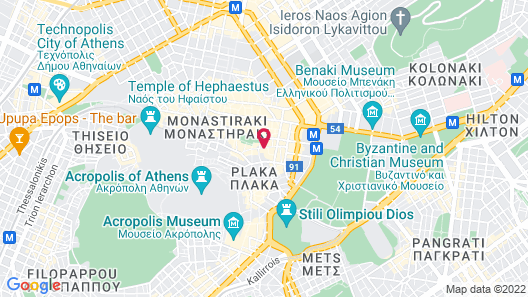 Central Athens Hotel Map