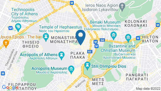 Luxury Studio in Historical Center of Athens - Goldfish Map