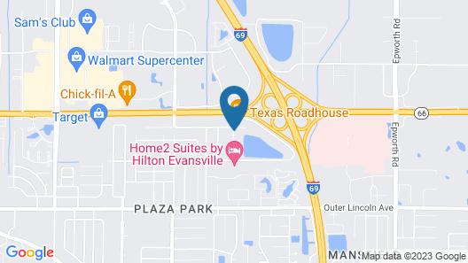 Hilton Garden Inn Evansville Map