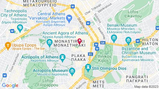 Athens Status Suites Map