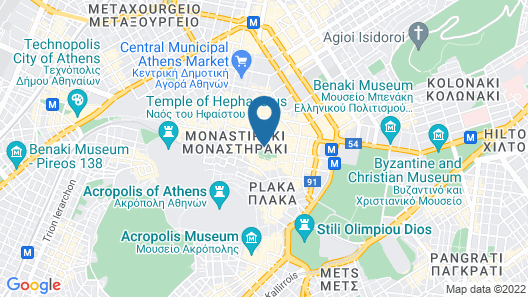 The Zillers Athens Boutique Hotel Map