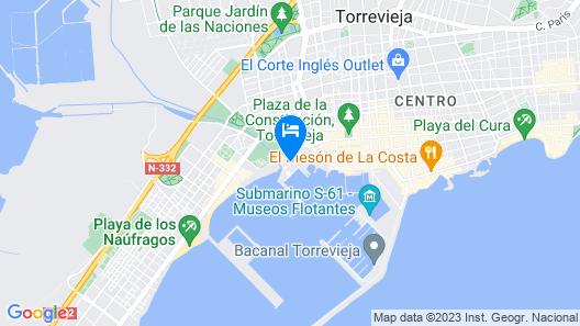 Apartamentos Marina Internacional Map