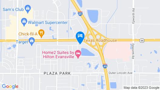 Hampton Inn Evansville Map