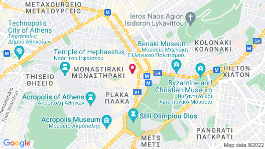 Electra Hotel Athens Map