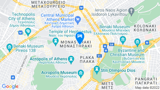 Plaka Hotel Map