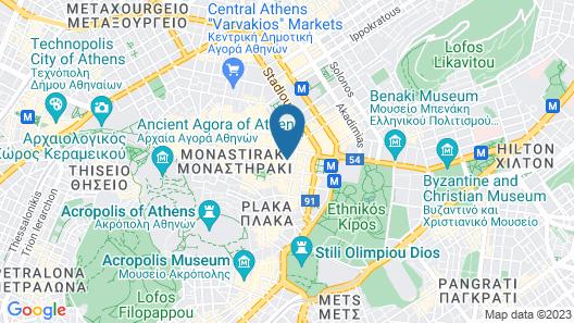 Elia Ermou Athens Hotel Map