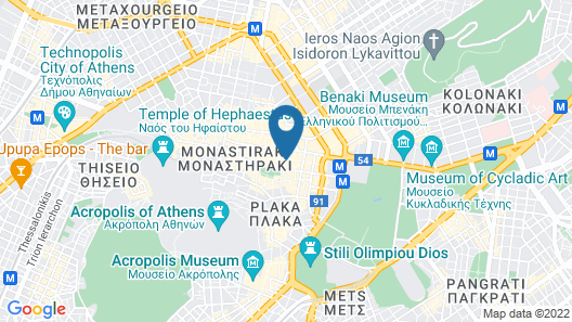Ermou Athens City Center Apartment Map