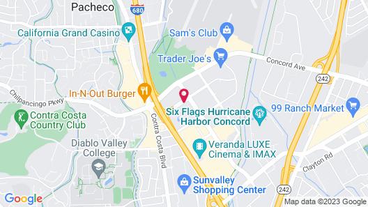 Clarion Hotel Concord/Walnut Creek Map