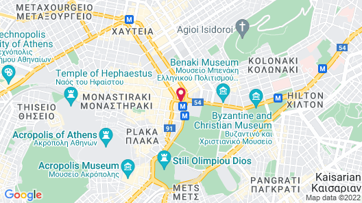 King George, a Luxury Collection Hotel, Athens Map