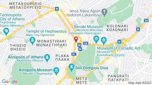 NJV Athens Plaza Hotel Map