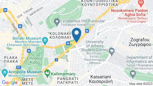 Hilton Athens Map