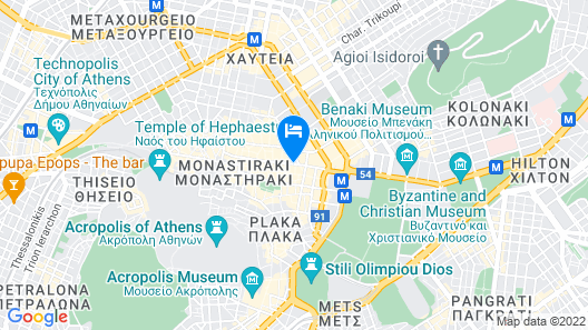 Athens Cypria Hotel Map