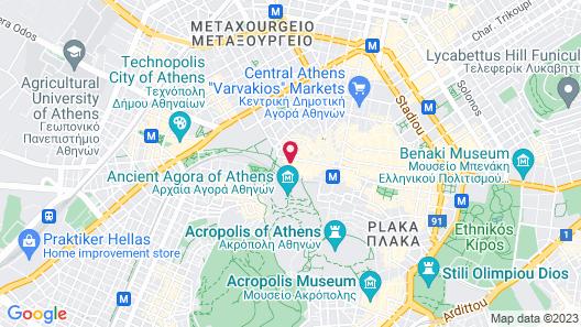 Ancient Agora Apartments Map