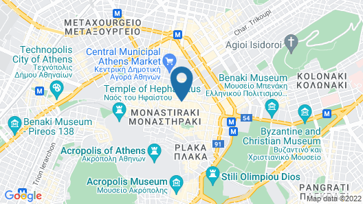 Small Funny World Athens - Hostel Map