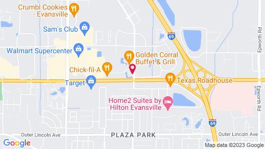 Drury Inn & Suites Evansville East Map