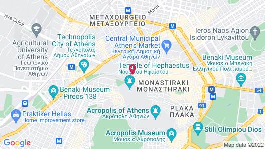 O&B Athens Boutique Hotel Map
