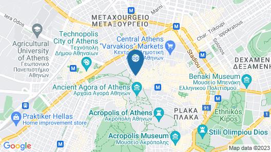O&B Athens Boutique Hotel Map