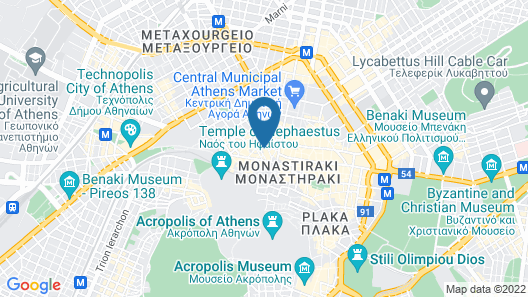 Monastiraki Place Map
