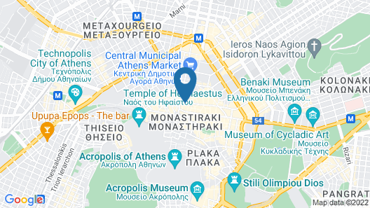 Athens Luxury Suites Map